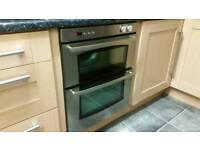 Gas built under Belling double oven