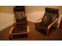 Armchairs plus footstool