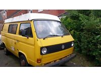 VW T25 T3 CAMPER VAN [2.0 AIRCOOLED] PROJECT - No MOT + Currently SORN