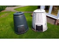 Two used 330 L Compost Bins