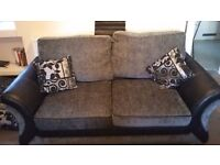 DFS Sofa Bed, black and grey, small double,