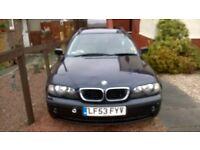 BMW series 3 e46 tourer 53 plate Diesel