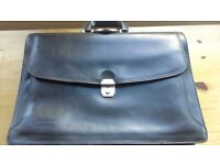 Man's leather briefcase, as new