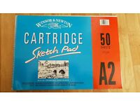 Windsor & Newton A2 Sketch pad (47 Sheets NOT 50)