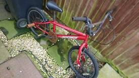 Apollo bmx bike child stunt pegs rusty