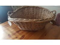 Large shabby chic basket
