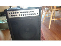 Classic Cantible combi amplifier 200 watts peak 100 watts RMS. Will handle mics, bass and guitar