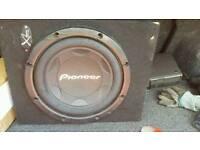 "12"" pioneer sub and alpine amp"