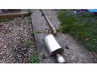 Stainless Exhaust SUBARU IMPREZA with centre section