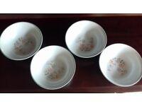 Denby Encore (Sweet Pea Design) Set of 4 x Bowls/Dishes (16cm) - Excellent Condition