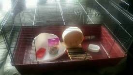good con hamster cage with statues size l 85 cm w 47 cm h 44 cm 07981759094