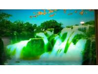 Display electrical frame waterfall/sound