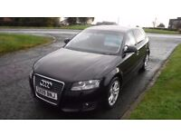 AUDI A3 1.9 TDI E SPORT,2009,Alloys,Air Con,Privacy Glass,Service History,Very Clean Example,£30 TAX