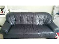Faux leather 3 seater sofa