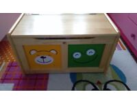 Toy wooden storage box for kids