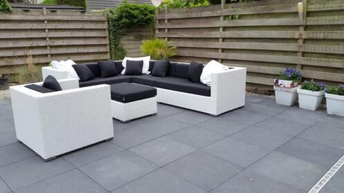 ≥ loungeset wit wicker aanbieding tuin set hoekbank lounge