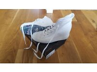 Size 6 - White Converse Heeled Trainers