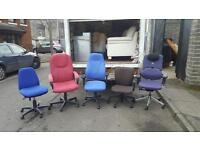 Selection of fabric swivel chairs £20 each delivered