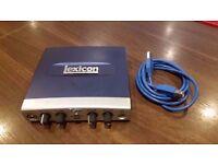 Lexicon Alpha USB Audio Interface.