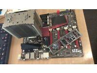 ASUS Rampage III Extreme, LGA 1366 X58, X5650 Xeon CPU 6cores 12 threads, 12GB DDR3, Noctua U12P