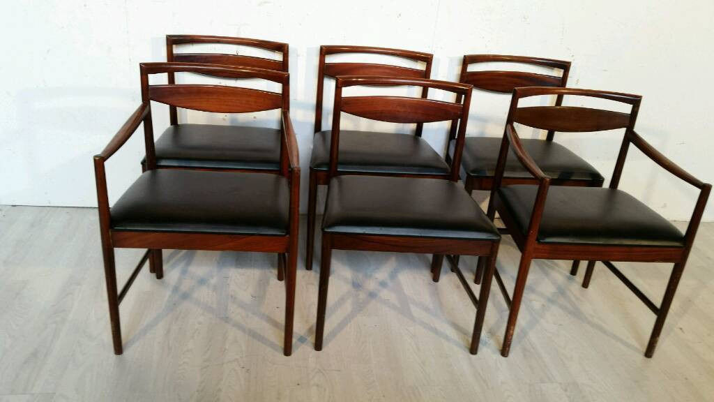 Set of Six McIntoch Mahogany Dining Chairsin DundeeGumtree - Attractive Retro Set of Six McIntoch Mahogany Dining Chairs for Sale The set consists of 2 carved and 4 side chairs . This is very stylish high quality Scottish modernist dining room set. Their well constructed, framework is made from solid rosewood...