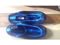 Childs aqua shoes