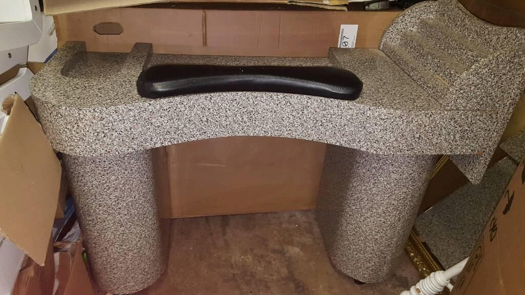 Nail bar. Massage hot stone heater. Trolly. Massage bed