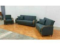 🤘🏻💓BEST SALES TURKISH DESIGN FABRIC STORAGE SOFA BEDS SETTEE BLACK BROWN GREY SOFABED