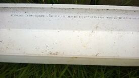 Floplast Square Gutter (Dia)114mm (W)114mm (L)3m, White