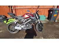 Yamaha mt125 abs 2015 £3500 ono