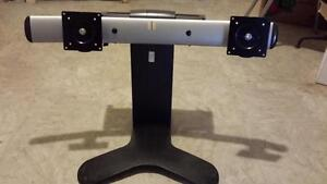 Used Heavy Duty Twin Monitor Stand for Sale