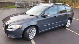 Volvo V50 Drive SE LUX D 1.6 Diesel Estate in Grey 2010 £20 per year road tax 50-55mpg