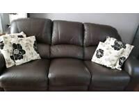 Italian leather large 3seater sofa