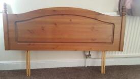 Divan Bed Wooden Headboard 4ft Small Double