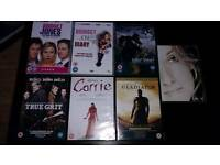 7 DVDS CARRIE.GLADIATOR.TRUE GRIT.BRIGET JONES ETC.ALL NEW.