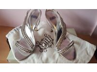 Faith Size 5 silver and dimanti sandles