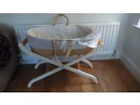 Mothercare Moses Basket and Stand (great condition)