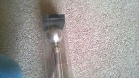 Silver extendable curtain pole set - brand new