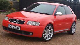 *STUNNING* Audi S3 1.8T Quattro RARE MISANO RED & SPEC 290BHP BADGER5 FACELIFT '51' R32 GTI TT M3 PX