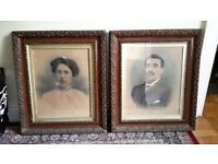 Beautiful solid wood and Gilt framed Antique portrait pictures