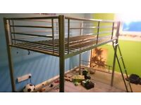 Metal Single Children Bunk Bed Frame No Mattress