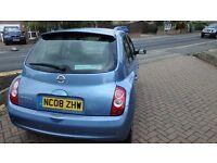 Nissan Micra Tekna, Blue, 5 Door Hatchback Petrol. 1200cc 2008 Manual