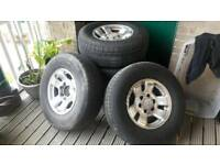 265 70 R16 Jap wheels and tyres