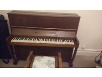 Piano - Upright Oak Piano - Full Working Order