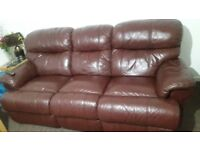 leather sofa 5 seater recliner .Good quality brand Harvey .moving to flat need space.