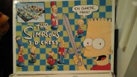 The Simpsons Chess Set great condition