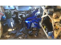 125cc motorbike parts & accessories including frame and engine