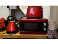 Used microwave, kettle and toaster