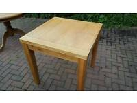 Solid oak dining table square