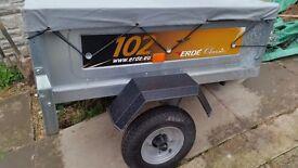 vango lumen v 500 tent .and erde 102 trailer